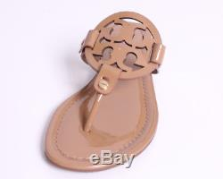 Tory Burch Miller Patent Flat Thong Sandal Sz 8.5 in Sand