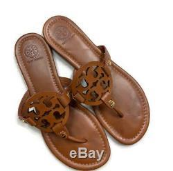 Tory Burch Miller Sandal Brown Flip Flop Vintage Vachetta Size 8.5 Shoes