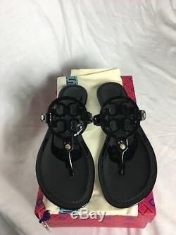 Tory Burch Miller Sandal Size 8.5 Black Patent