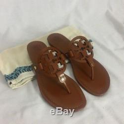 Tory Burch Miller Sandal Size 9.5 Vintage Vachetta