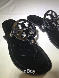 Tory Burch Miller Sandal Size 9 Black Patent Leather