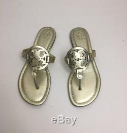 Tory Burch Miller Sandal Thong Women's Gold Size 8.5M