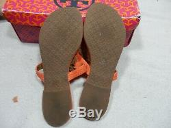 Tory Burch Miller Sandal size 7.5 M Coral
