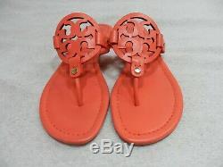 Tory Burch Miller Sandal size 8 M Orange Coral