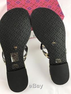 Tory Burch Miller Sandals Flip Flop Leopard 7 7.5 8 8.5 10