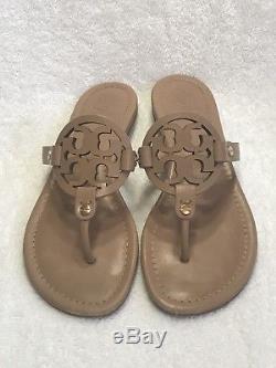 Tory Burch Miller Sandals Flip Flops Make Up Leather Size 8.0M