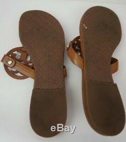 Tory Burch Miller Sandals Flip Flops Vintage Vachetta Leather Size 7 M