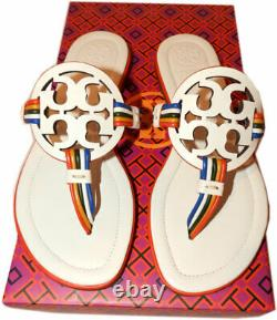 Tory Burch Miller Sandals MIGNON Thongs Leather Shoes Flip Flops 5 Slides Mules