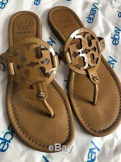 Tory Burch Miller Sandals Patent Sand Size 7.5