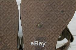 Tory Burch Miller Sandals, Women's Size 5 M, Brass