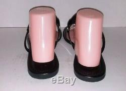 Tory Burch Miller Sandals leather Color Black Size 9M