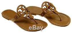 Tory Burch Miller Thong Flip Flops Sandals Patent Brown 10 M