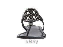 Tory Burch Miller Thong Sandal Blue Navy Crystal Embalished Shoe Flip Flops 8.5