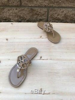 Tory Burch Miller Thong Sandal, Sand Patent Leather, Size 6 M