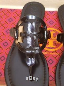 Tory Burch Miller Thong Sandals shoes size 6 new NIB Petroleo METALLIC