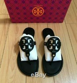 Tory Burch Miller Veg Leather Sandal / Flip Flop, Black, Code 001 Women size 8.5