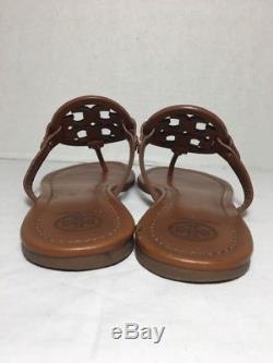 Tory Burch Miller Vintage Vachetta Leather Flip Flop Sandals Size 10M
