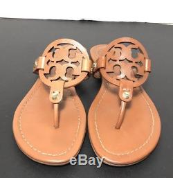 fbe1ef34f9fdc9 Tory Burch Miller Vintage Vachetta Leather Flip Flop Sandals Size 5.5m