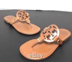 Tory Burch Miller Vintage Vachetta Leather Flip Flop Sandals Size 5.5M