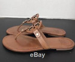 Tory Burch Miller Vintage Vachetta Leather Flip Flop Sandals Size 8.5M