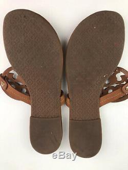 Tory Burch Miller Vintage Vachetta Leather Flip Flop Sandals Womens Size 8.5
