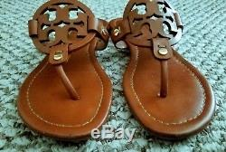Tory Burch Miller Vintage Vachetta Leather Sandals Flip Flops Size 6M