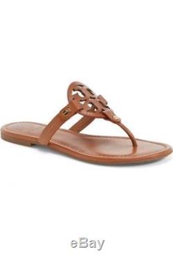 Tory Burch Miller Vintage Vachetta Leather Thong Sandals Women Size 10