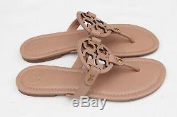 Tory Burch'Miller' Women Flip Flop Flat Sandals Makeup Leather Size 7 M