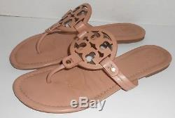 Tory Burch Miller logo Leather Sandals Light Pink (Makeup) Size 10