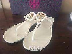Tory Burch Mini Miller Crystal Jelly Flip Flop Slide Sandal Shoes Flats sz6