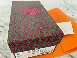 Tory Burch Mini Miller Flat Thong TPU Sandals Spring Mint Size 8 BrandNew Box