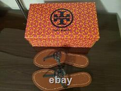 Tory Burch Mini Miller Gabriel Flat Thong Leather Sandals Shoes Size 8