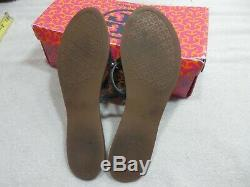 Tory Burch Mini Miller Sandal size 9.5 M Navy