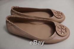 Tory Burch'Minnie' Travel Ballet Flat Goan Sand Size 8 M