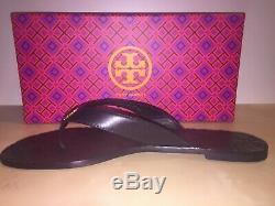 Tory Burch Monroe Flip Flop Sandal Shoe Black Sz 9.5 M