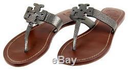 Tory Burch Moore Logo Sandal Silver 9.5