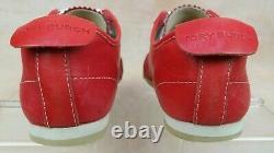 Tory Burch Murphey Red Leather Fashion Sneaker Shoe 11128500 Women's 6 M