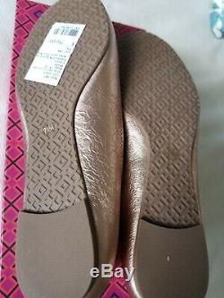 Tory Burch NEW Rose Gold Reva Flats 7.5 with box