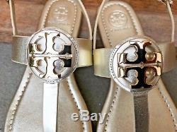 e72af2be40a Tory Burch Nib Bryce Metallic Spark Gold Flat Thong Sandal Style  46233  228