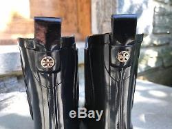 Tory Burch NIB Chelsea Stormy Black Rubber Short Rain Boot Bootie #39275 $198