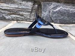 Tory Burch NIB Miller Petroleo Mirror Metallic Blue Sandals US 6.5 Style #40175