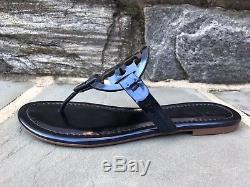Tory Burch NIB Miller Petroleo Mirror Metallic Blue Sandals US 6 Style #40175