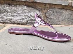 Tory Burch NIB Miller Rosa Mirror Metallic Flat Thong Sandals US 8 #40175 $198
