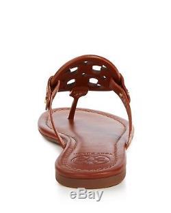Tory Burch NIB Miller Vintage Vachetta Leather Logo Sandal