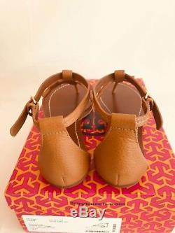 Tory Burch NIB Phoebe Flat Thong Sandals Royal Tan Leather #30437 VERY RARE
