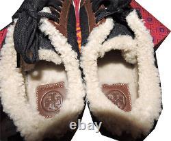 Tory Burch Oliver Gray Shearling Fur Lined Shoe Flat Sneaker Shoe 10 40
