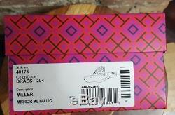 Tory Burch Patent Leather Miller Sandal Thong BRASS METALLIC 7 7.5 8 8.5 NIB
