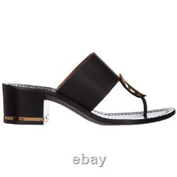 Tory Burch Patos Disk Mid-Heel Sandals Slides Mules Shoes 7.5 Thongs