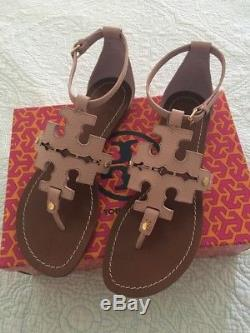 Tory Burch Phoebe Leather Flat Thong Sandals Pink Quartz Women Size 10 New