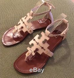 Tory Burch RARE White Phoebe Sandals Sz 8 Retail $285 SOLD OUT